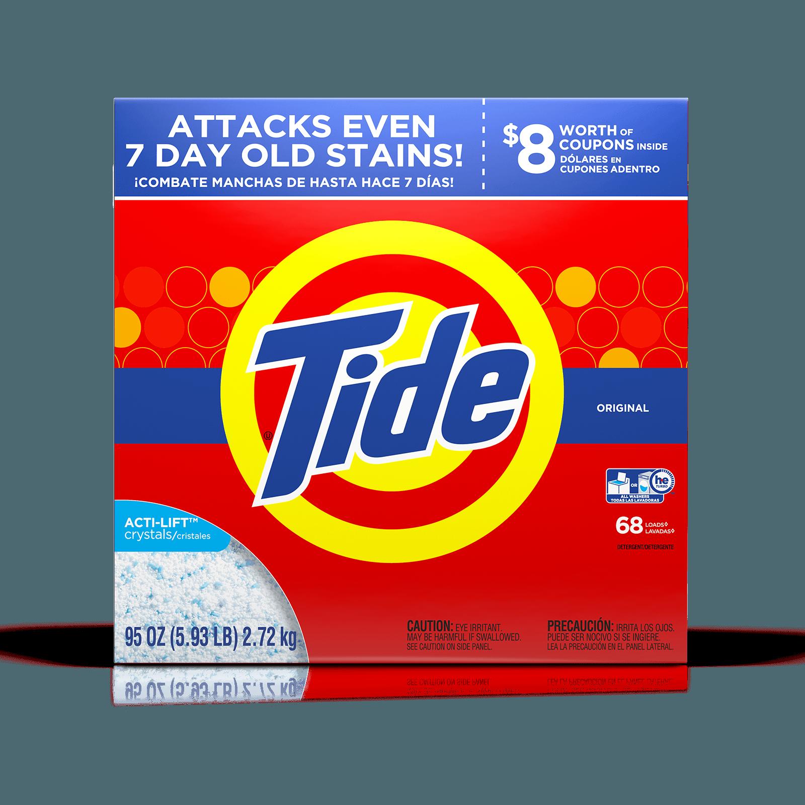 Laundry tide detergent