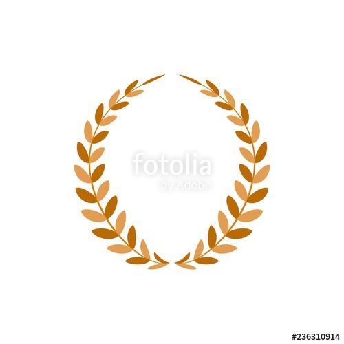 Gold wreath reward modern. Laurel clipart achievement award