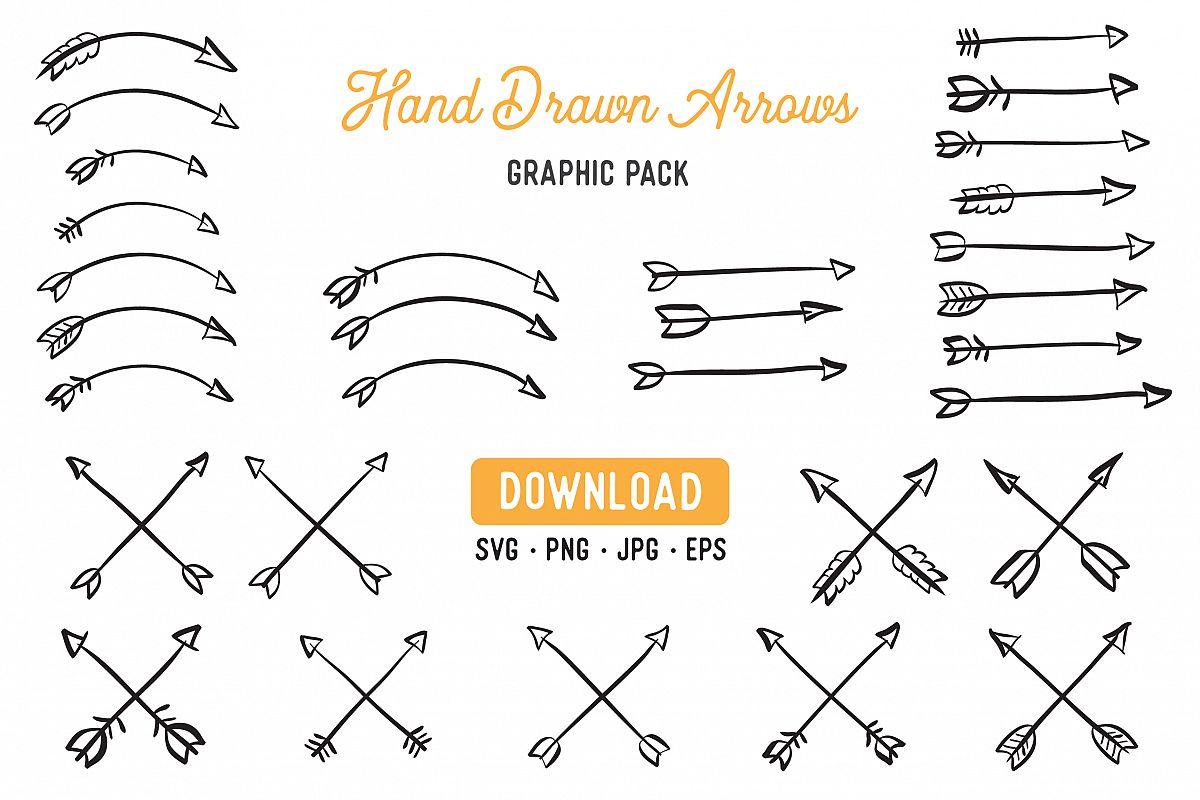 Hand drawn . Laurel clipart arrow