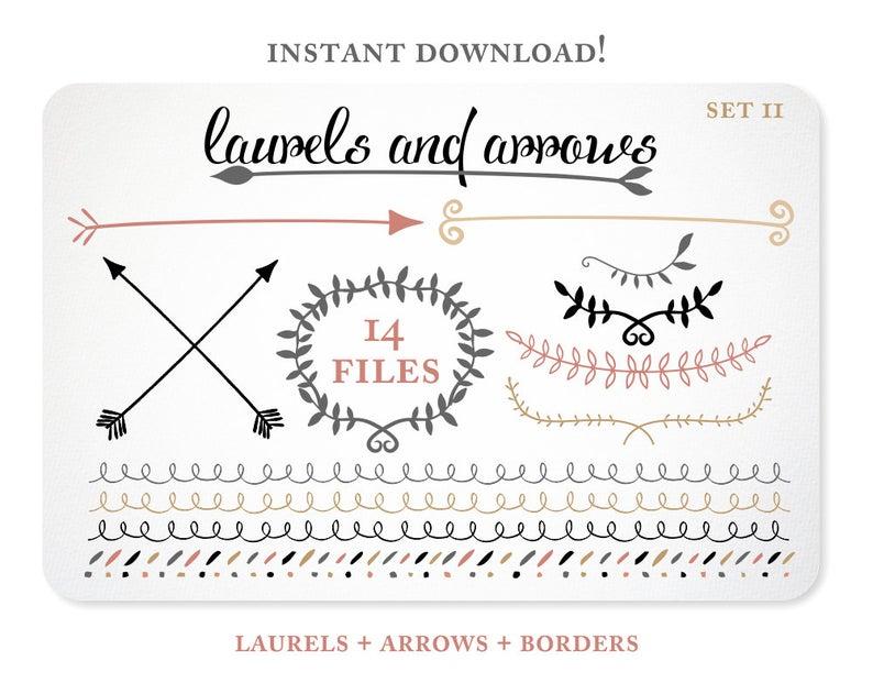 Laurel clipart arrow. Clip art digital tribal