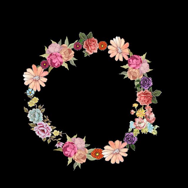 Lavender clipart decorative wreath. Coronas a photoshop estilo