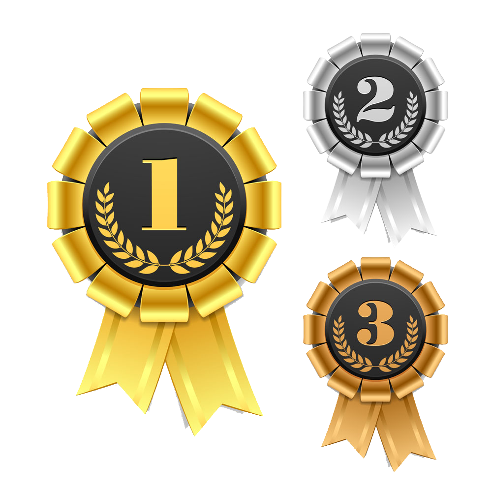 Ribbon award rosette clip. Laurel clipart bronze