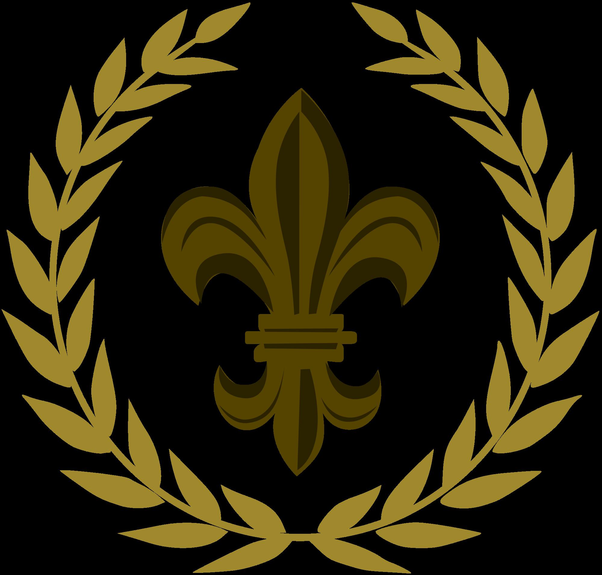 Laurel clipart bronze. File wikiproject scouting fleur