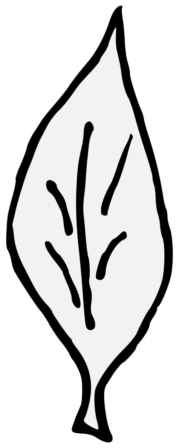 Laurel clipart curved leave. Traceable heraldic art pdf