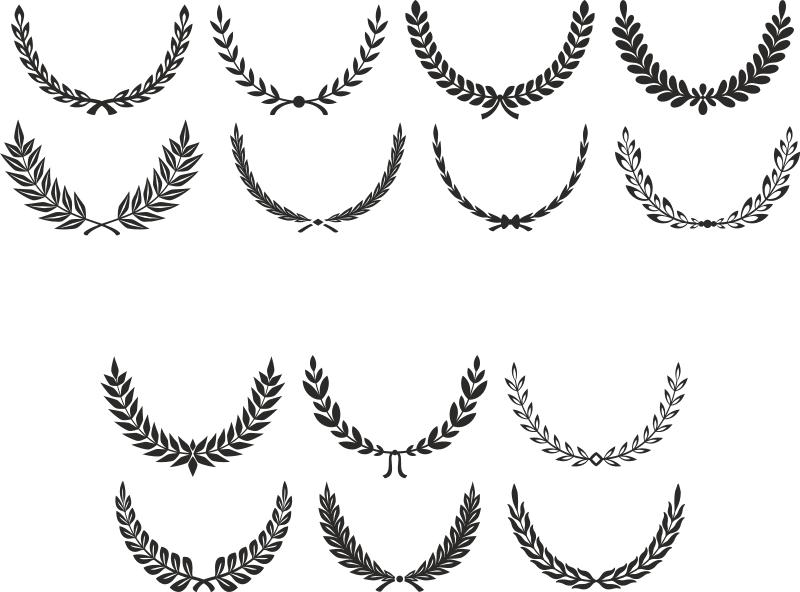 Laurel clipart fancy. Digital wreath clip art