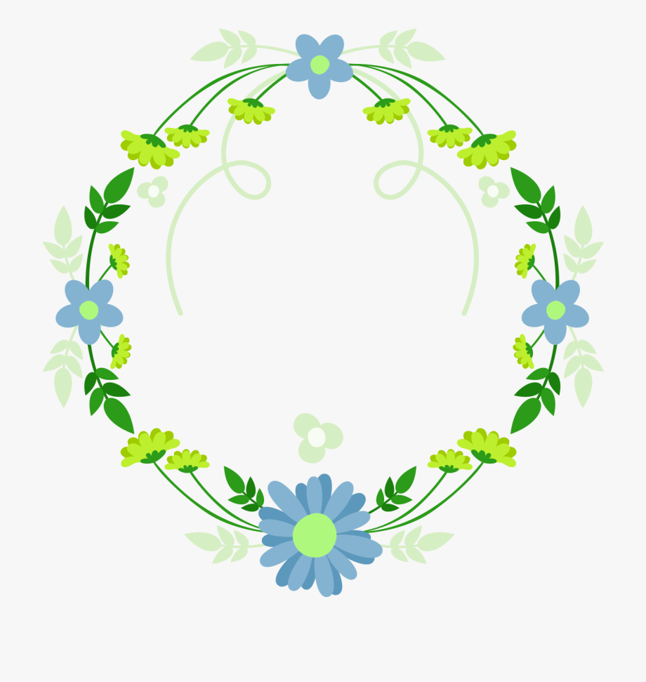 Wreath blue green fresh. Laurel clipart garland