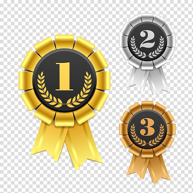 And medals ribbon award. Laurel clipart gold silver bronze