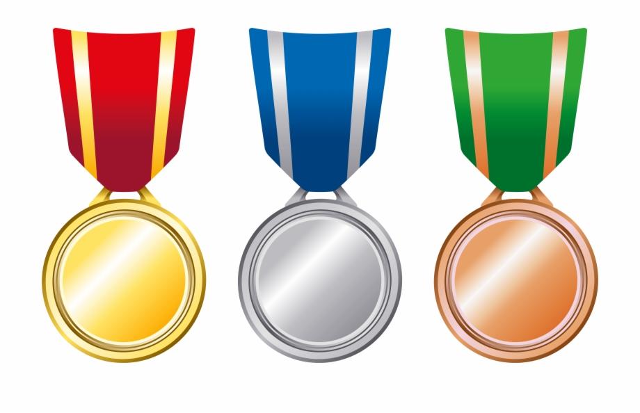 Transparent medals png . Laurel clipart gold silver bronze