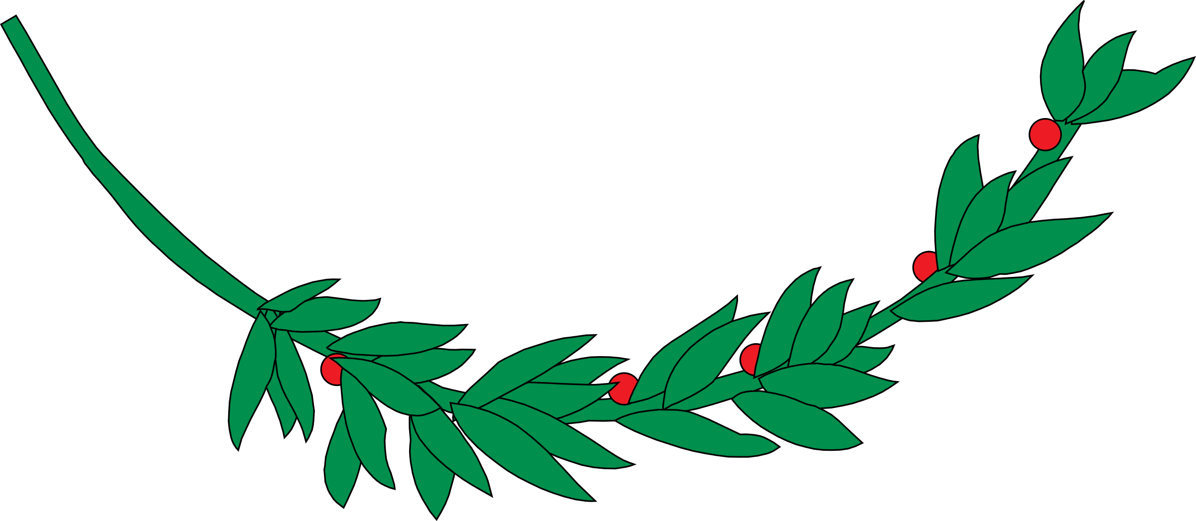 Laurel clipart green. Branch icons png free