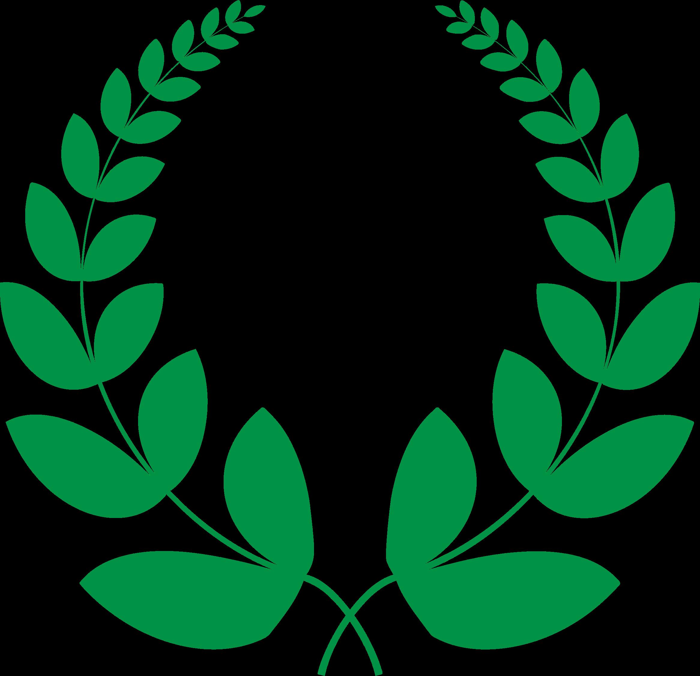 Laurel clipart green. Wreath big image png
