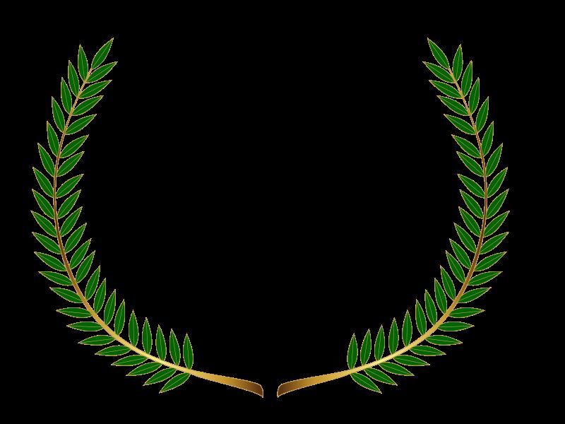 Laurel clipart green. Wreath colour medium image