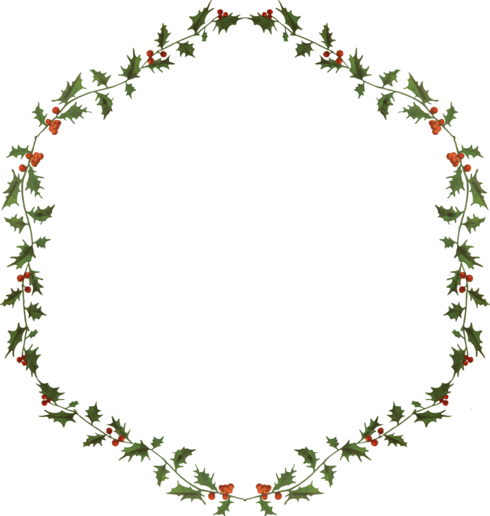 Wreath christmas day tote. Laurel clipart holly