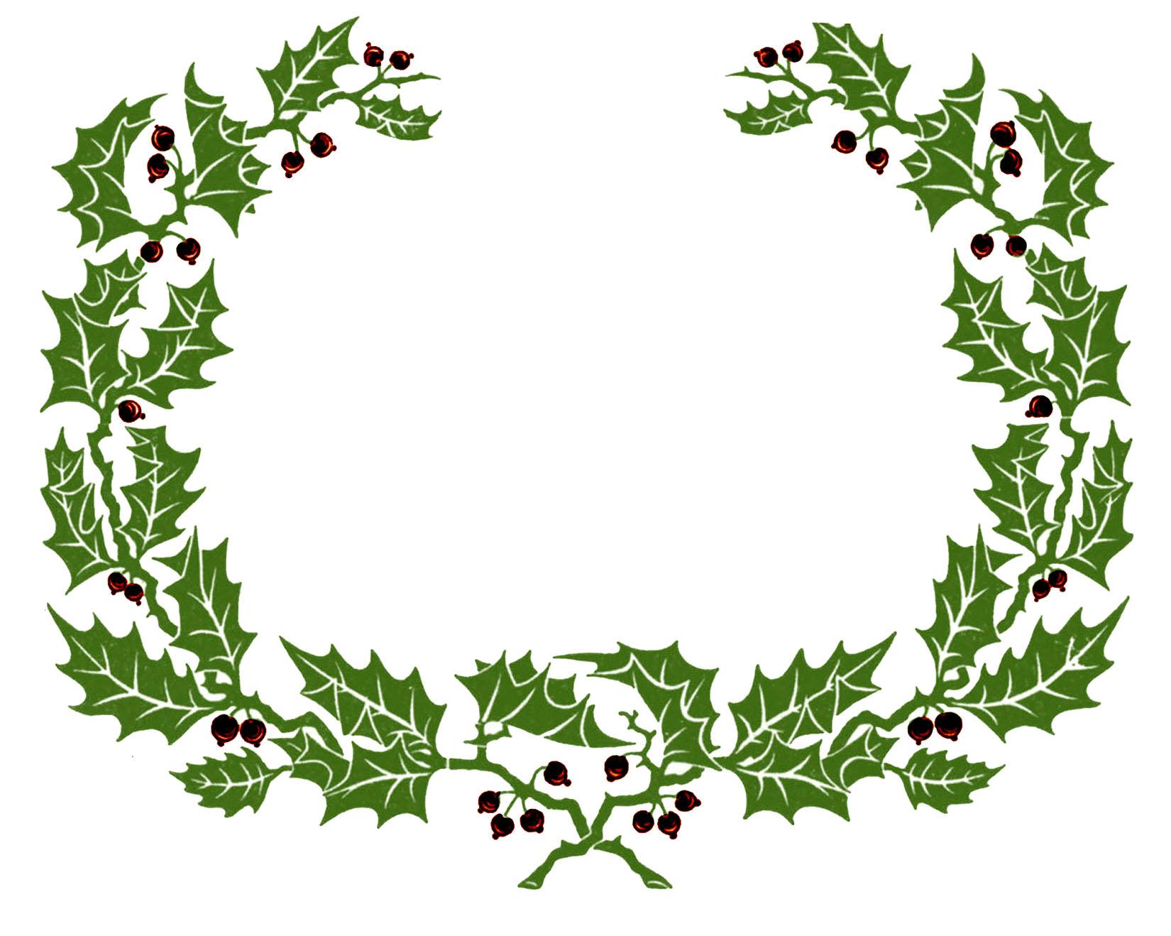 Laurel clipart holly.  christmas wreath frame