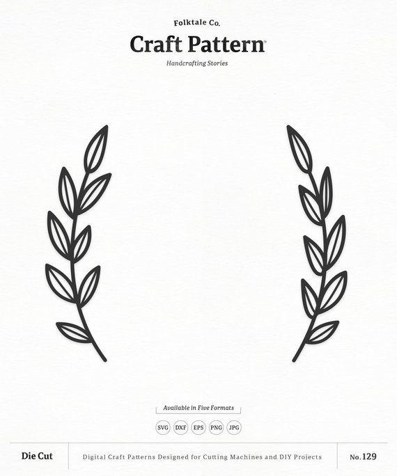 Svg craft pattern wreath. Laurel clipart laurel leaves