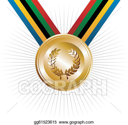 Vector illustration olympics games. Laurel clipart olympic