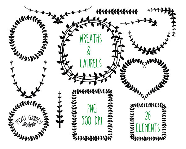 Free wreath cliparts download. Laurel clipart round vine