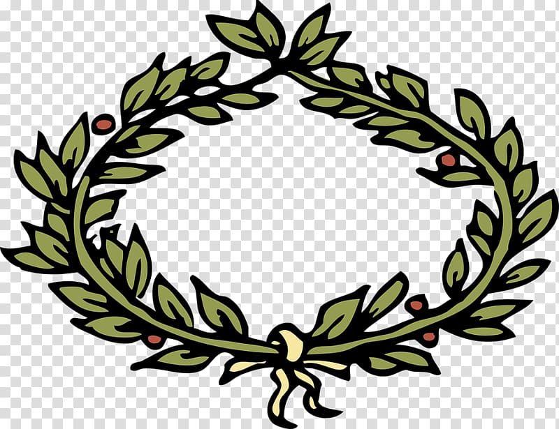 Wreath crown computer icons. Laurel clipart round vine