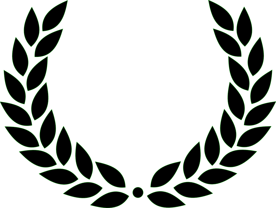 Wreath vector graphics bay. Laurel clipart silhouette