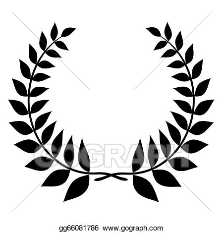 Laurel clipart silhouette. Stock illustration wreath black