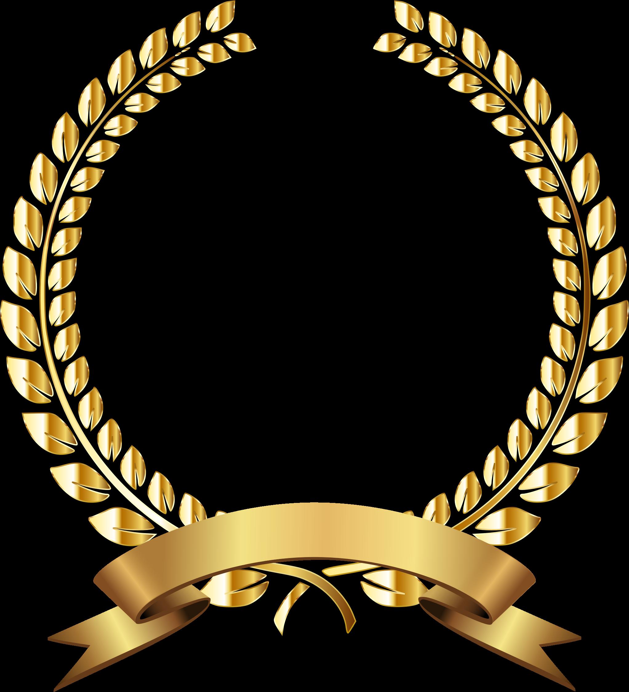 Golden wreath remixed no. Laurel clipart weath