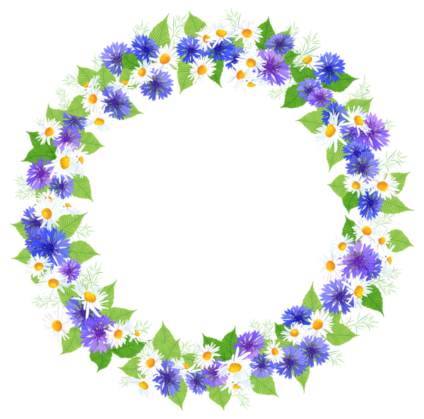 Floral round decoration png. Lavender clipart decorative wreath