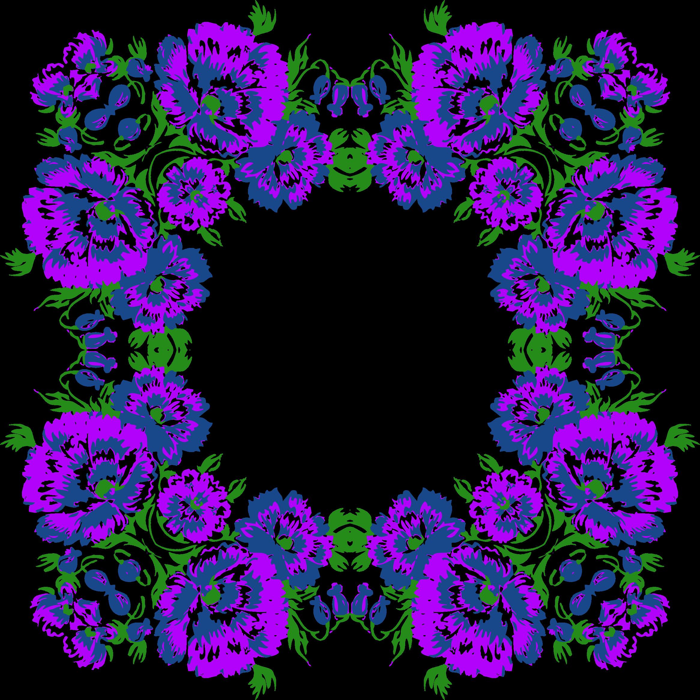 Floral frame variation big. Lavender clipart decorative wreath