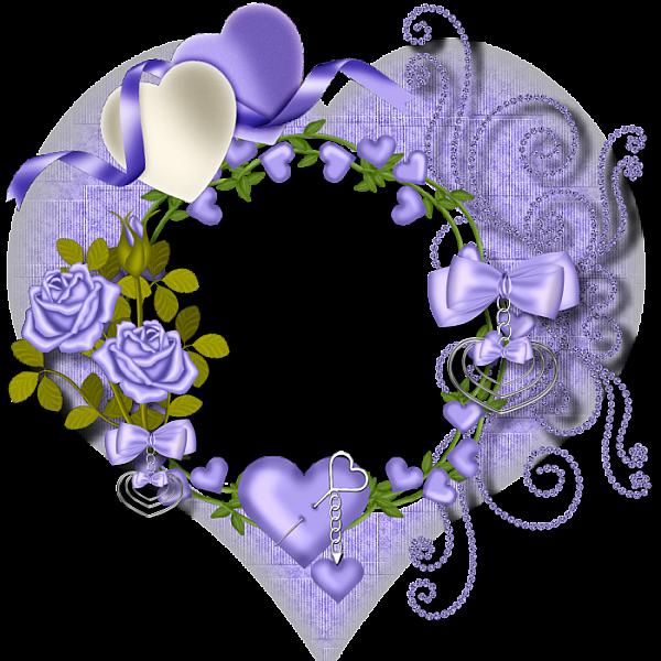 Purple heart frames transparent. Lavender clipart decorative wreath