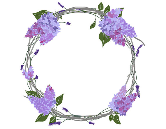 Lavender clipart decorative wreath. Free cliparts download clip