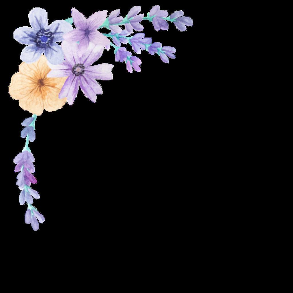 Lavender clipart delphinium. Bloom frame flower border