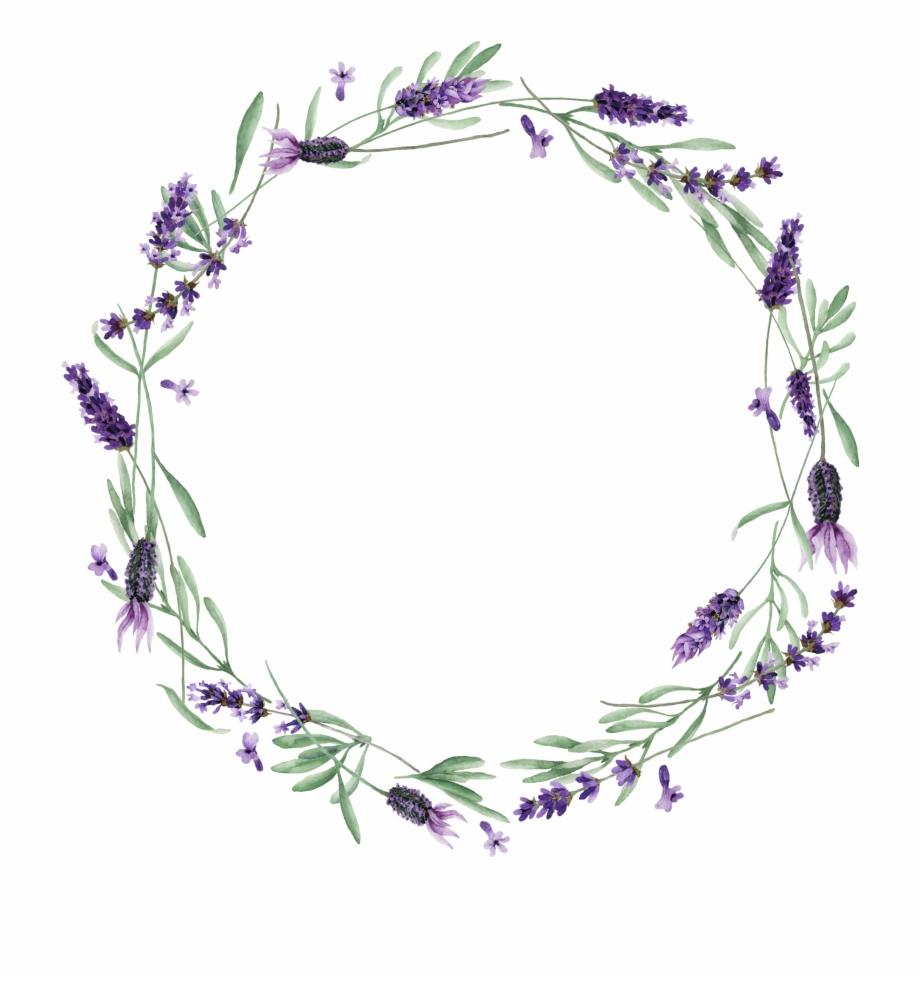 Lavender clipart lavendar. Wreath transparent png download