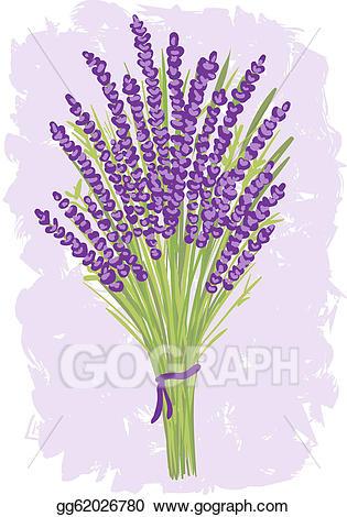 Clip art vector illustration. Lavender clipart lavender bouquet