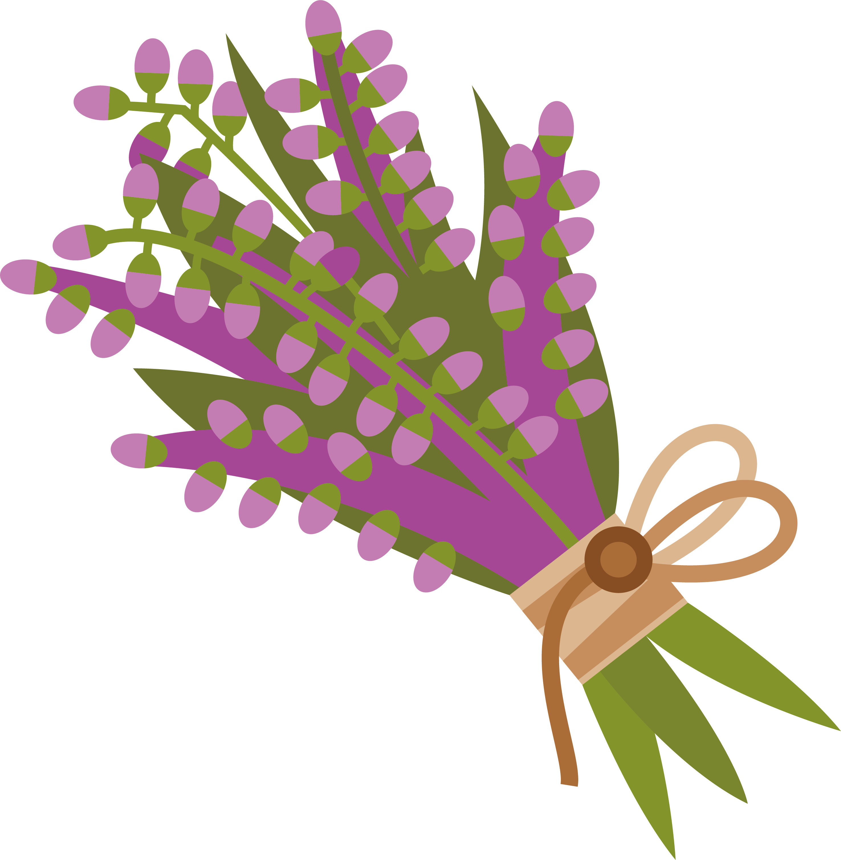 Icon transprent png free. Lavender clipart lavender bouquet