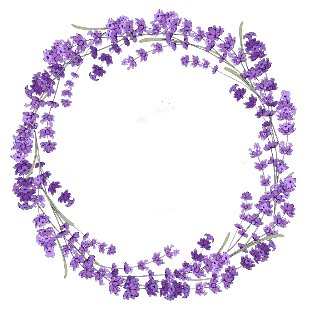 Wreath stock photography clip. Lavender clipart lilac