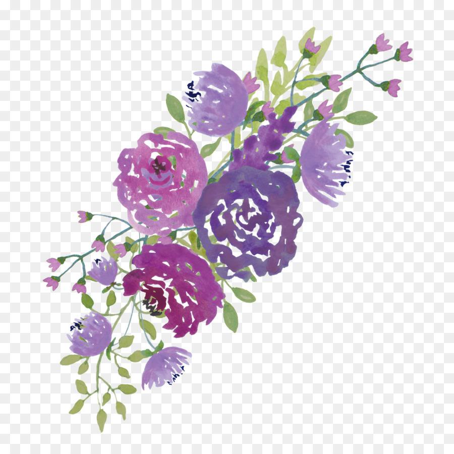 Lavender clipart lilac. Purple watercolor flower