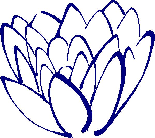 Lavender clipart magnolia. Navy blue lotus clip