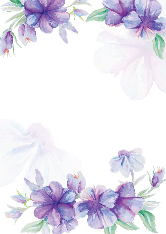 Wedding invitation flower watercolor. Lavender clipart magnolia