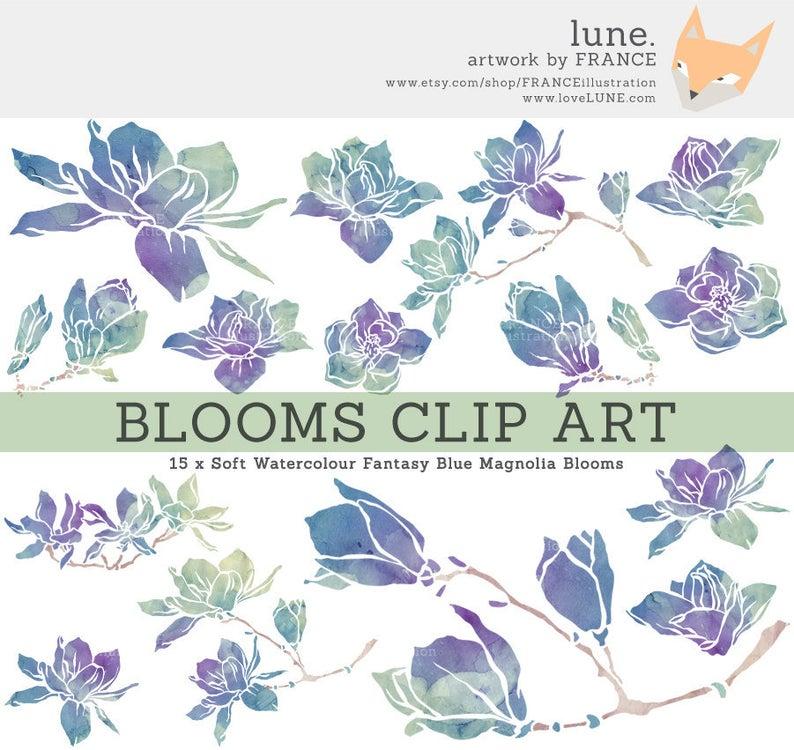 for flower clip. Lavender clipart magnolia
