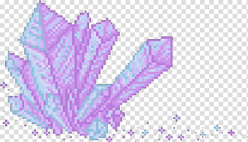 Pink and blue crystal. Lavender clipart pixel