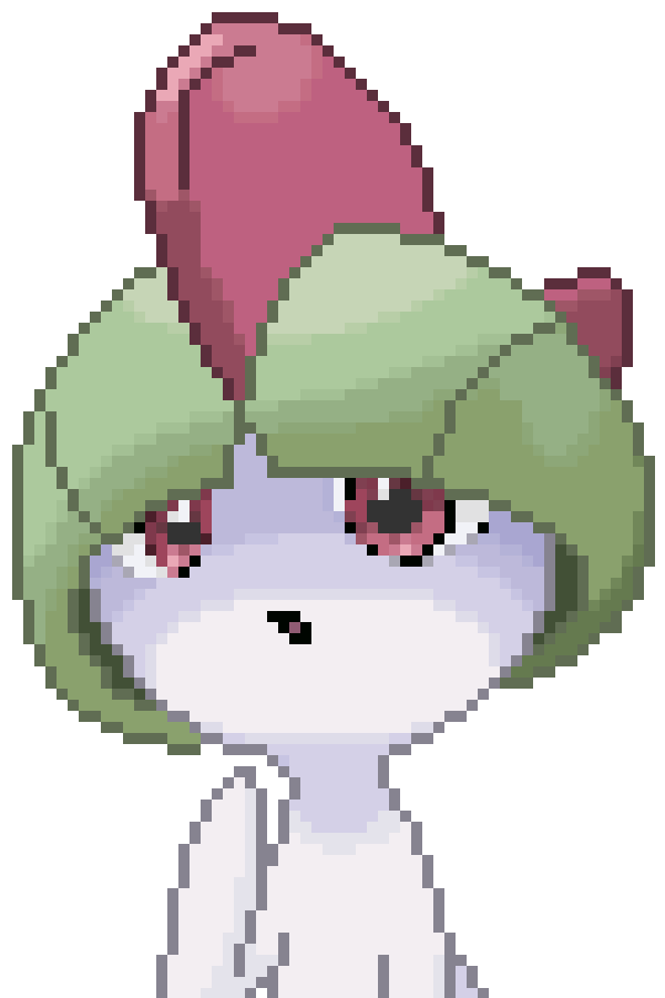 Ralts art by mastermind. Lavender clipart pixel