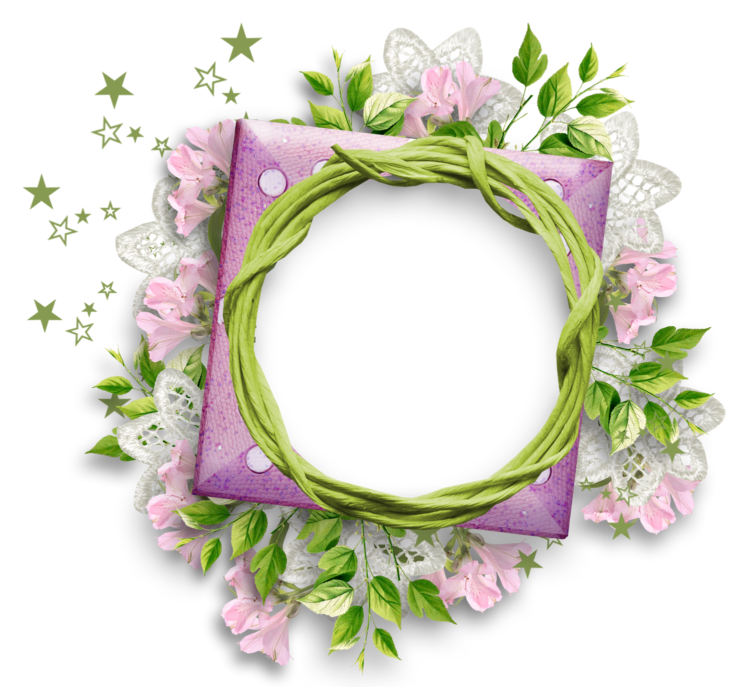 Purple frame with flowers. Lavender clipart printable