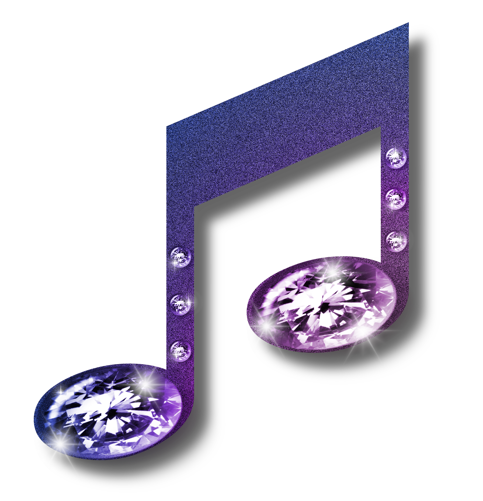 Purple music note clip. Lavender clipart royalty free