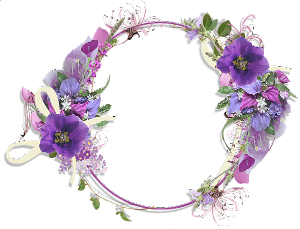 Purple borders and frames. Lavender flower png