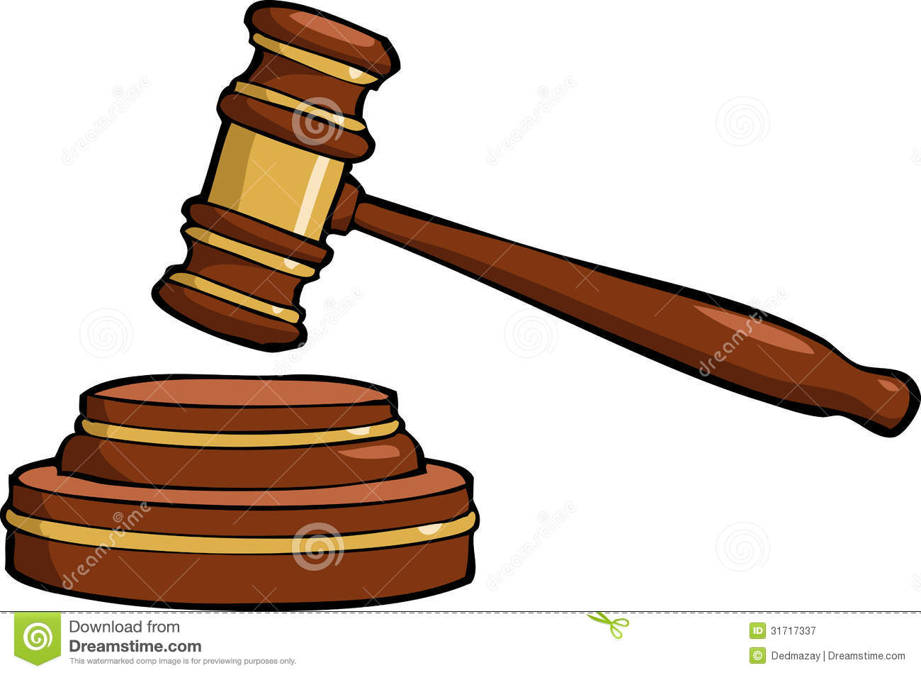 Law clipart. Gavel