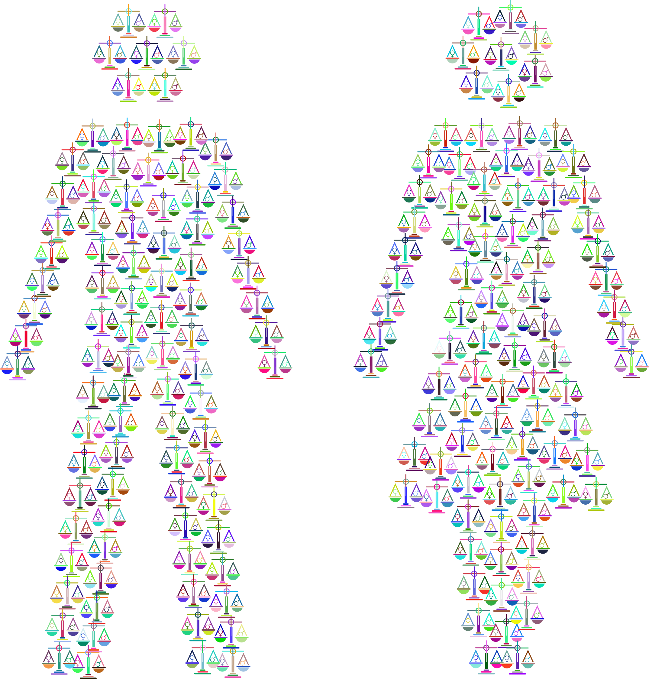 Prismatic gender equality male. Weight clipart clear background