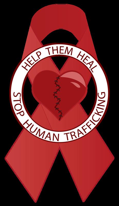 Stop human trafficking ribbon. Slavery clipart servitude