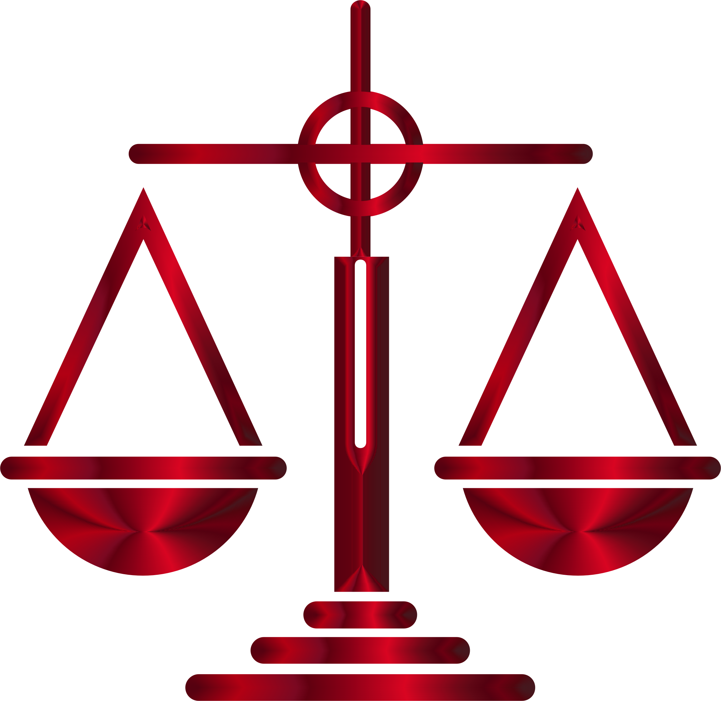 Sanguine scales of justice. Lawyer clipart scale