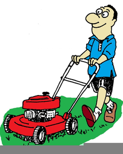 Lawnmower clipart. Free man images at