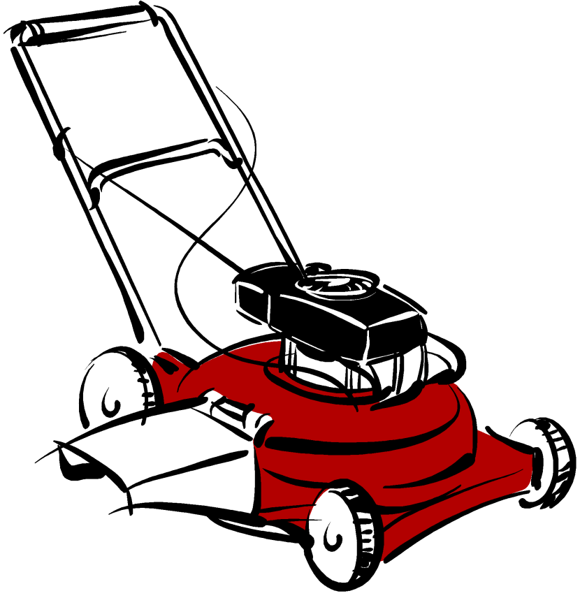 collection of cartoon. Lawnmower clipart