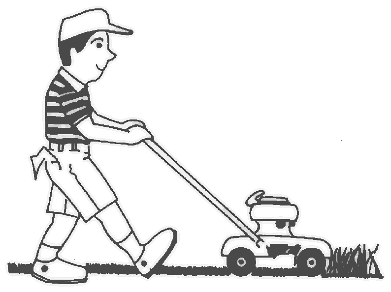 Free lawn mowing cliparts. Lawnmower clipart black and white