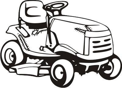 Lawnmower clipart black and white. Lawn mower pink riding